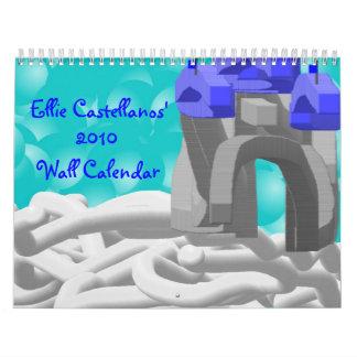 Calendario de pared de Ellie Castellanos 2010