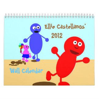 Calendario de pared de Ellie Castellanos 2012