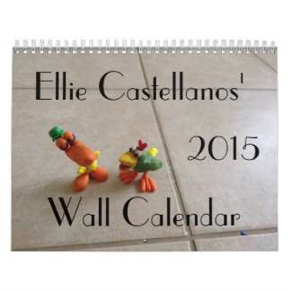 Calendario de pared de Ellie Castellanos 2015