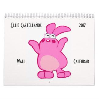 Calendario de pared de Ellie Castellanos 2017