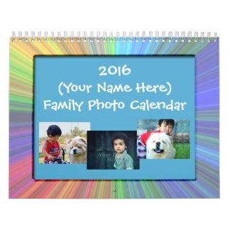 Calendario de pared de encargo de la foto de la