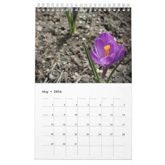 Calendario de pared de encargo de la fotografía