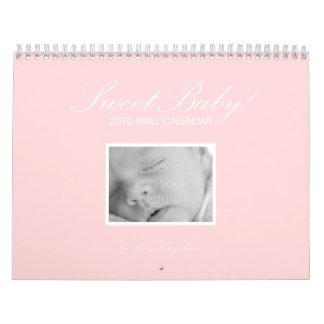Calendario de pared de encargo del bebé dulce -