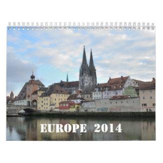 Calendario de pared de Europa 2014