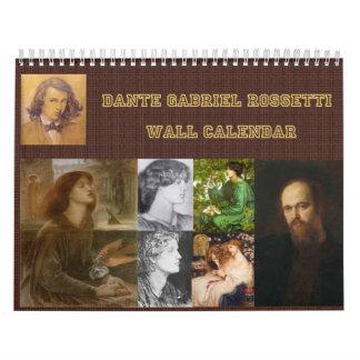 Calendario de pared de Gabriel Dante Rossetti