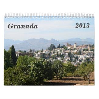 Calendario de pared de Granada 2013