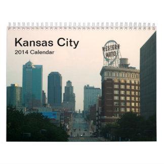 Calendario de pared de Kansas City 2014