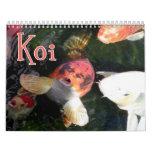 Calendario de pared de Koi