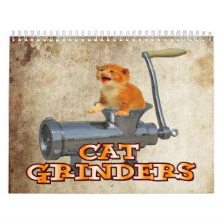 Calendario de pared de la amoladora del gato