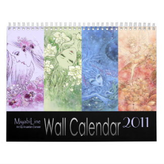 Calendario de pared de la fantasía