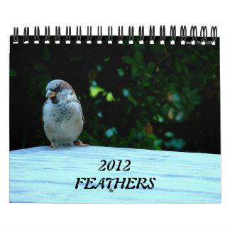 Calendario de pared de la fotografía del pájaro de