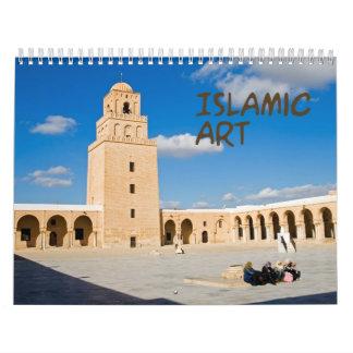 Calendario de pared de la mezquita y del alminar