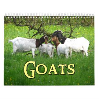 Calendario de pared de las cabras