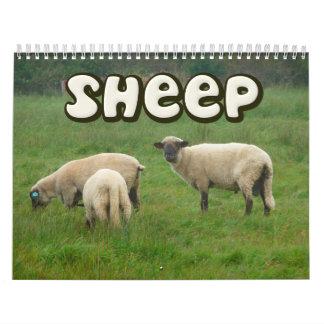 Calendario de pared de las ovejas
