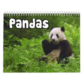 Calendario de pared de las pandas