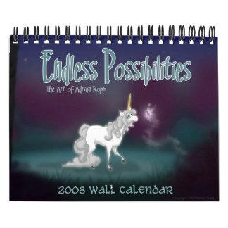 """Calendario de pared de las """"posibilidades sin fin"""""""