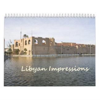 Calendario de pared de LIBIA 2013