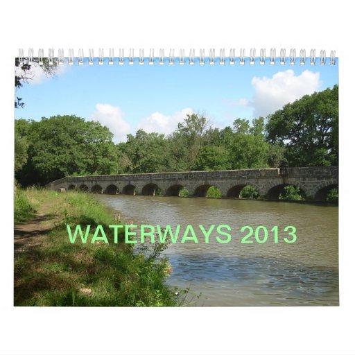 Calendario de pared de los canales 2013