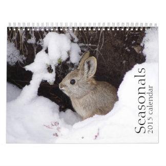 Calendario de pared de los conejos de conejito