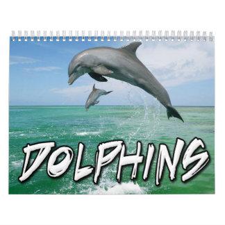 Calendario de pared de los delfínes