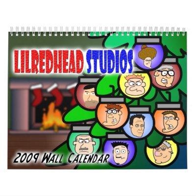 Calendario de pared de los estudios 2009 de Lilred