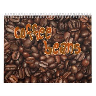 Calendario de pared de los granos de café