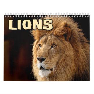 Calendario de pared de los leones