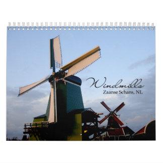 Calendario de pared de los molinoes de viento 2011