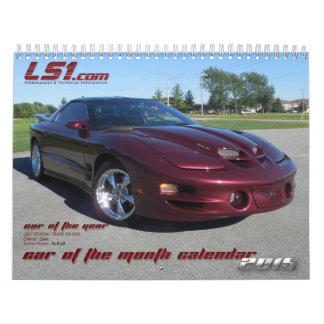 calendario de pared de LS1.com COTM