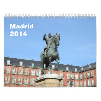 Calendario de pared de Madrid 2014