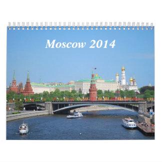 Calendario de pared de Moscú 2014