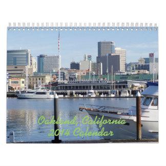Calendario de pared de Oakland California 2014