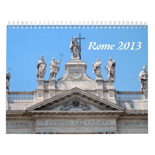 Calendario de pared de Roma 2013
