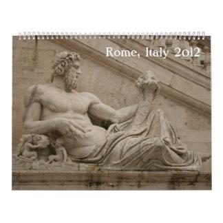 Calendario de pared de Roma Italia 2012