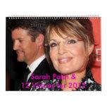 Calendario de pared de Sarah Palin 2012