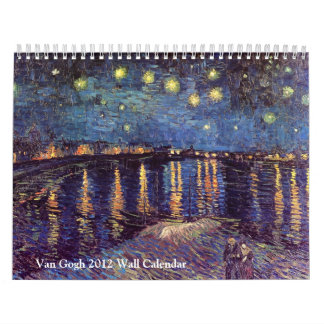 Calendario de pared de Van Gogh 2012