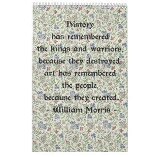 Calendario de pared de William Morris