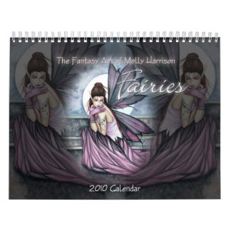 Calendario de pared del calendario de 2010 hadas M