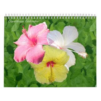 Calendario de pared del Caribe