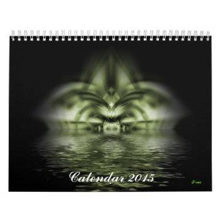Calendario de pared del fractal 2015