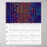 Calendario de pared del modelo de 2014 Aztecas Posters