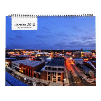 Calendario de pared del normando 2010