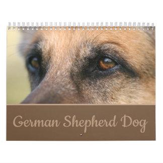 Calendario de pared del perro de pastor alemán