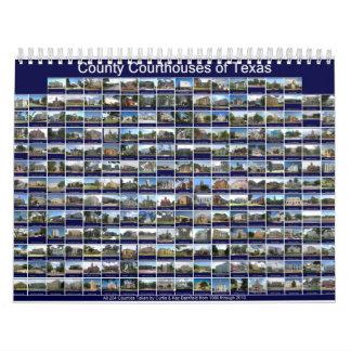 Calendario de pared del tribunal del condado de Te
