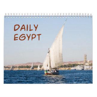 Calendario de pared diario de Egipto 2013