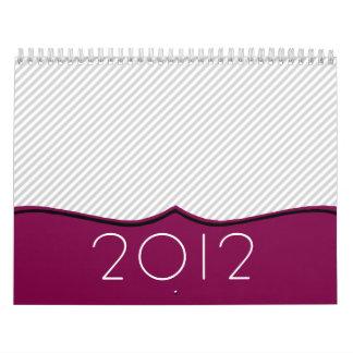 Calendario de pared elegante del ciruelo y del