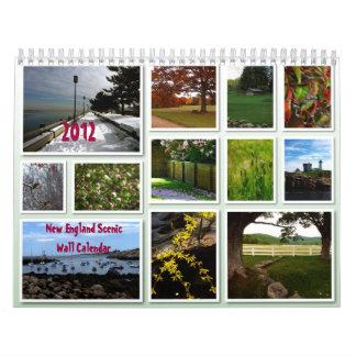 Calendario de pared escénico de Nueva Inglaterra 2