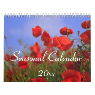 Calendario de pared estacional