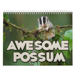 Calendario de pared impresionante del oposum