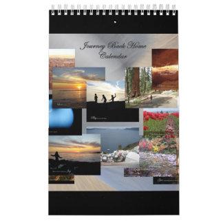 Calendario de pared inspirado casero trasero del